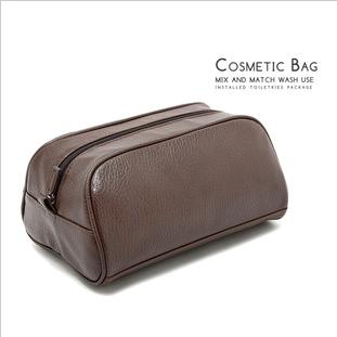 High-end fashion business brown large capacity water wash bag shoe bag Unisex