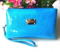 Mini order $15 Korean patent leather women wallet wholesale mobile phone purse zipper key  wallet