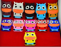 Wholesale 100pcs/lot New Fashion Cute 3D Cute Cow Soft Rubber Silicone Back Cover Case For iPod Touch 4 4G GEN