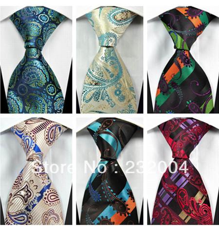 2015 Men's Fashion Accessories Jacquard Woven Classic Floral Pattern Print Business Silk Tie Necktie for Men Blue Black Silver()