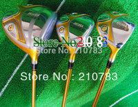 2012 New Golf Clubs HONMA Beres S-02 1.3.5wood set.1#driver.10.loft,3/5Fairway Woods.ARMRQ6 49 Graphite/shaft Free Shipping