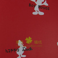 Meijia wallpaper letter donald duck MICKEY MOUSE real child bedroom wallpaper lxkk20 size 0.53mX10m