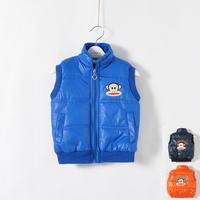 Free shipping boy cartoon thickening cotton vest  winter vest children waistcoat down jacket  winter vest jacket boy waistcoat
