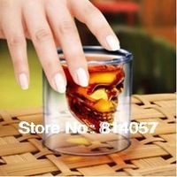 84PCS/Lot Fedex Free Shipping, Novelty Crystal Skull Head Vodka Shot Glass Mugs, Novelty Skeleton Head Wineglass Cup For Whiskey