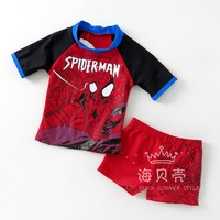 High Quality spider-man swimsuit kids bathing suit for the baby swimsuit girls boys lovely swimwear kids,S,M,L,XL,free shipping