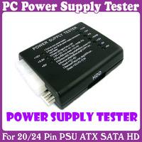 6 pcs/Lot_PC 20/24 Pin PSU ATX SATA HD Power Supply Tester_Free Shipping