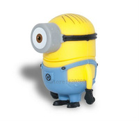 BK66 Wholesale Hot sale - Despicable Me 2 Stuart 4GB - 32GB USB 2.0 Flash Memory Stick Drive U Disk Festival Thumb/Car/Pen Gift