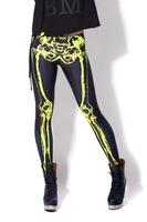 New arrival leggings for women 2013 fashion Mechanical Bones Black Leggings digital print skull leggings HOT dropshipping M XL