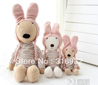 J1 Kawaii plush free shipping, 60cm large size Japanese Le sucre plush soft rabbit  in pink cap