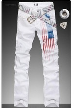 Spike High end version man s casual summer spring of the American flag jeans tastefully comfortable