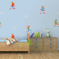 wallpaper mural wallpaper roll Meijia wallpaper pure paper, scooter cartoon wallpaper hghl102