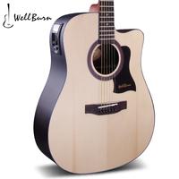 Guitar wellburn monoboard guitar ballads monoboard electric box guitar 41 hrets guitar