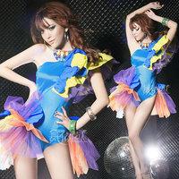 Fashion female singer ds costume sexy bodysuit dance clothes
