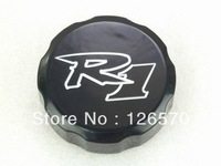 Free Shipping BLACK FRONT BRAKE FLUID CAP For 1998-2012 Yamaha YZF R1 YZF-R1 99 01 02 03 04