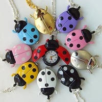 DHL free VIP LINK _____ 500pcs/lot Beetle beetle key chain watch pocket  gualian table ladyfly table quartz  child table