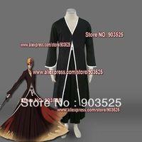 Free Shipping  Apparel Bleach Ichigo Kurosaki Bankai Form Cosplay Costume, any measurements
