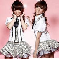 Flower saucy two-piece preppy style uniform school wear suit ds stage performance wear uniforms