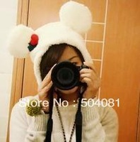 wholesale plush toy WINTER cosplay Beanie/kid& adult hat cute mickey minnie Christmas Xmas tree cap Cartoon Animal anime bow Hat