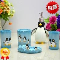 Bathroom set resin bathroom set fashion bath set resin bathroom set of five pieces penguin