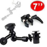 """7"""" Adjustable Magic Arm +Super Clamp Mount Kit For Camera DSLR RIG Z96 LED Light"""