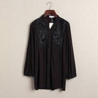2014 autumn national trend seiko plate laciness loose fresh small female shirt