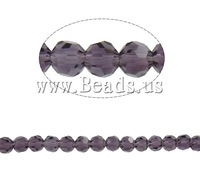 Free shipping!!!Imitation  Crystal Beads,Wholesale Jewelry, Round, faceted, Amethyst, 4mm, Hole:Approx 1mm