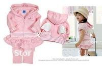 2013 Spring Autumn girls Angel wings clothes cotton sweater girls coat Children outerwear+skirt pants