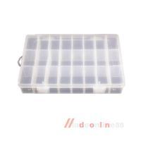 24 Grid Transparent Plastic Box Jewelry Nail Tip Storage Box Compartments M3AO