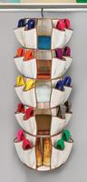 Cotton canvas wardrobe finishing bag clothing shoes lather-bag storage bag , hanging type rotary bag