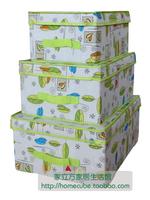 High quality clothes cotton cloth storage box finishing box piece storage box set