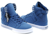 Sport shoes for men casual leisure skateboard running shoes solid blue brand shoes 1075