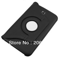 New Mini 7 inch Tablet Stand 360 Rotating PU Leather Case for Samsung P3200 Galaxy Tab 7.0 inch Factory wholesale