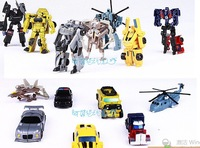 Action Figures 7pcs/lot Robot Car Man Action & Toy Figures Legends Classic Toys For children Optimus Prime BUMBLEBEE
