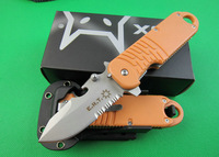 Free Shipping 7Cr17MOV Stainless Steel Orange OEM FOX Rescue Knife with K Sheath DREAM1522