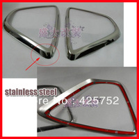 free shipping for 2012 2013 Mazda CX-5 CX5 cx 5 stainless steel  front fog lamp cover fog light cover trim 2pcs