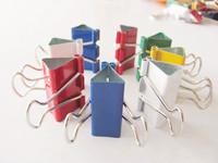Free shipping wholesale 250pcs/lot 32MM Muticolor Binder clips Ticket clips file folder Medium 32mm