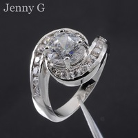 Jenny G Jewelry Bridal-inspired Size 6,7,8,9 White Sapphire 10KT White Gold Filled Wedding Ring for Women