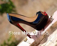 Free shipping Red Bottom Peack Lady Peep Nude Pumps Sexy Women Shoe Women Brand Leather Dress Shoes