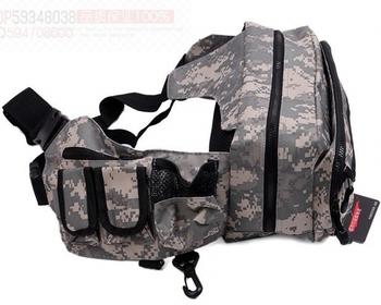 Multifunctional waterproof bag,waist pack, messenger bag, fishing tool bag nano Camouflage DROP SHIPPING