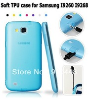 Free shipping Top Quality soft TPU gel silicon with dustproof plug case for  Samsung galaxy I9260 I9268