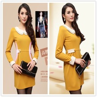 2013 spring women's gentlewomen OL outfit brief high waist one-piece dress spring basic skirt