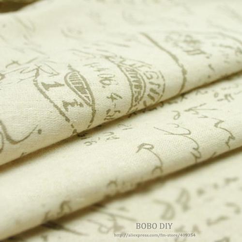 ZAKKA English letter linen fabric,DIY handmade,Handwritten font printed linen cotton fabric,150cm,BOOB ,free shipping,B2013805