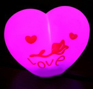 free shipping cute funny toy/gift lighting heart size 6-8cm height