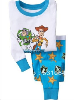 Toy Story designed for children 100% cotton baby long sleeve pajamas sold individually