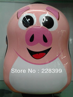 17 inch cute pig trolley / child bag / hard shell bag / schoolbag children / children's toys / gifts