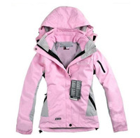 FZ709202  New arrival woman winter jacket Outdoor sports coat ladies Waterproof breathable windproof 2in1 hoodies female coat