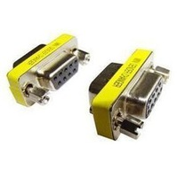 FreeShipping HKpost +tracking number  RS232 Gender Changer DB9 Female to Female Adapter F-F