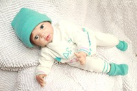 boy Reborn Baby doll/ High quality as interactive Dolls Baby Doll for kids' gift Real like 52cm