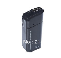 New 2AA Battery USB Emergency Charger for USB Devices white/ black Free shipping 10pcs / lot