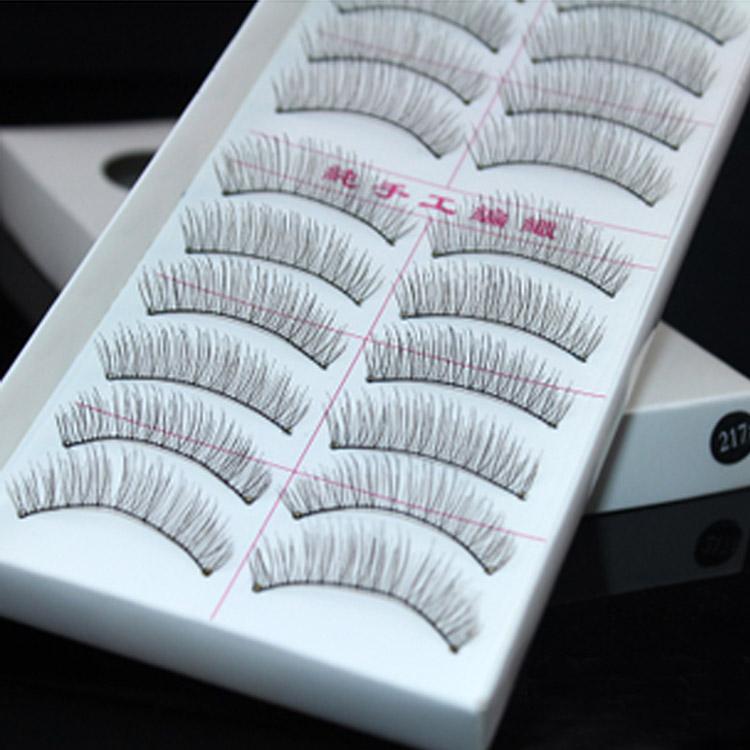 New 2013 Hot Sale 10 Pairs Lashes EyelashesSet Kit Extension Makeup Natural Long False Eyelashes Free Shipping RB7-128(China (Mainland))